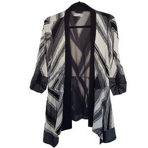 Svetlana Distressed Sweater L Black White Gray